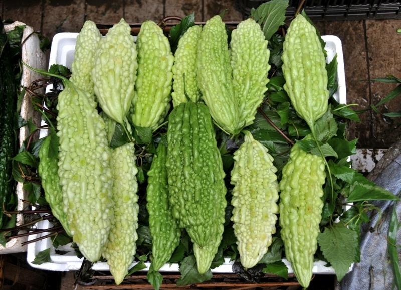 Bittermelone auf einem Markt un China